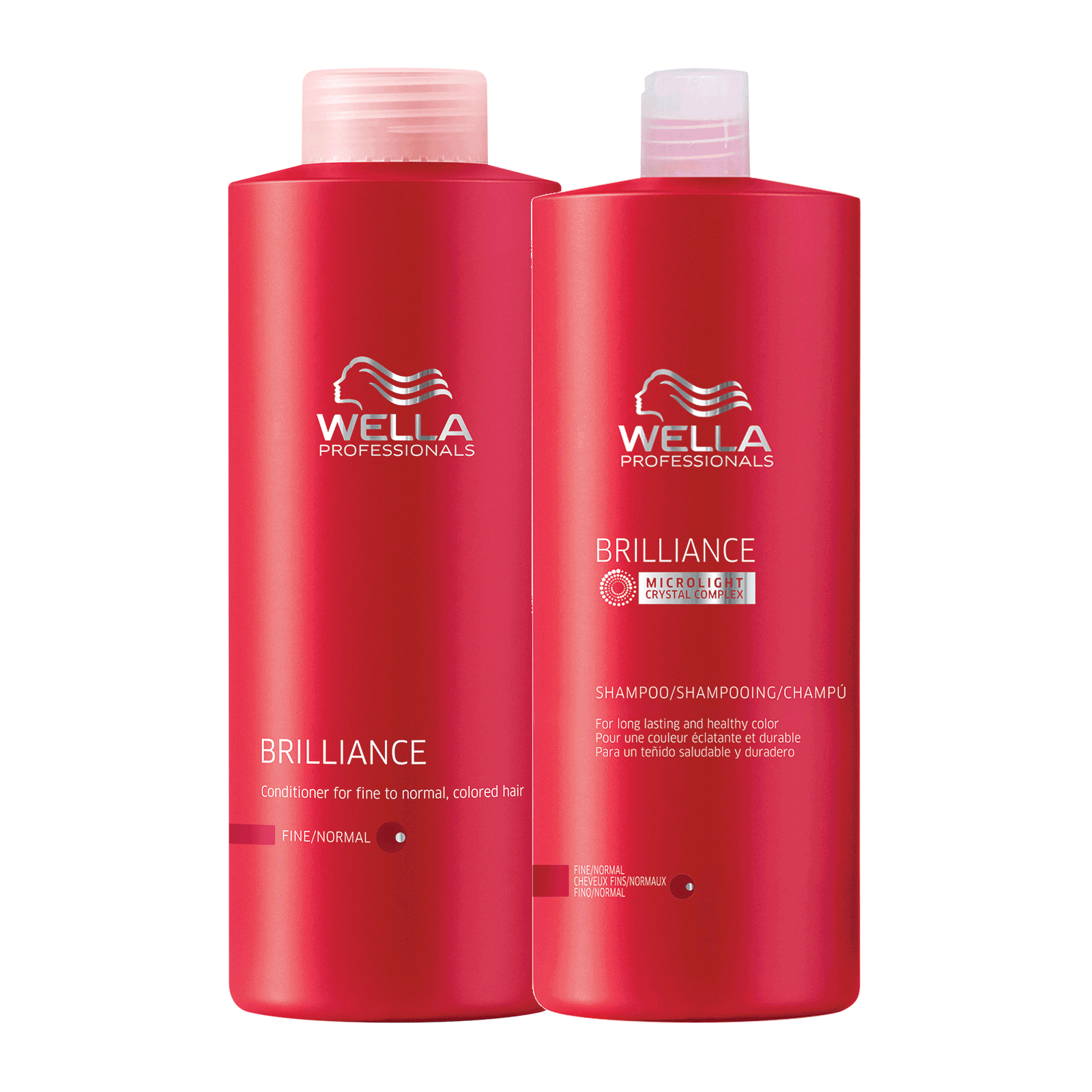 Brilliance Shampoo, Conditioner for Fine Color-Treated Hair