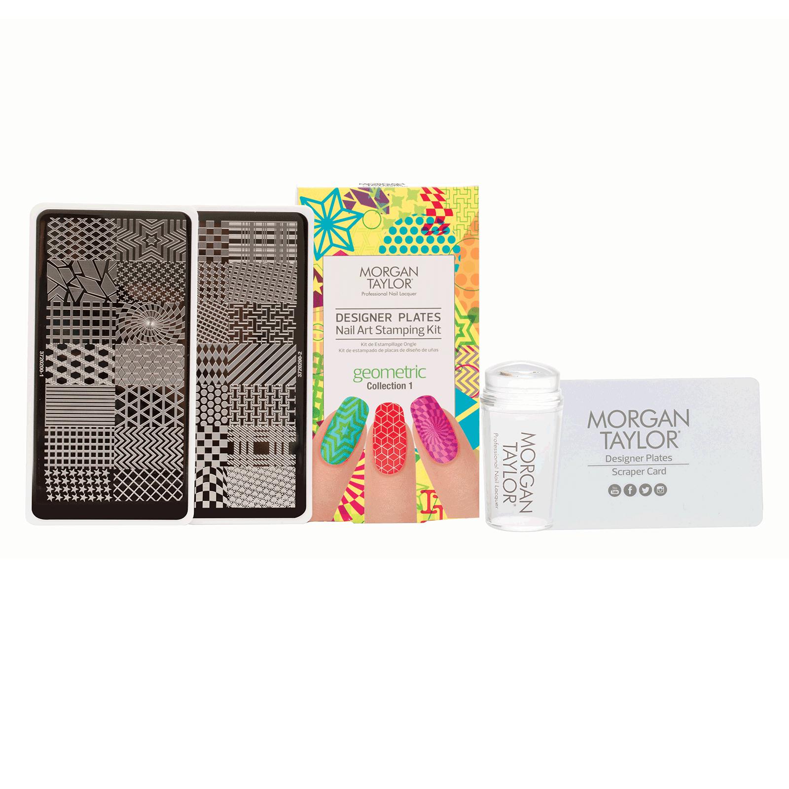 Nail Art Stamping Kit | Geometric - Morgan Taylor | CosmoProf
