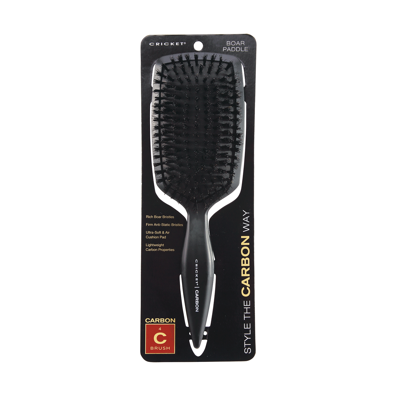 Carbon Boar Paddle Brush