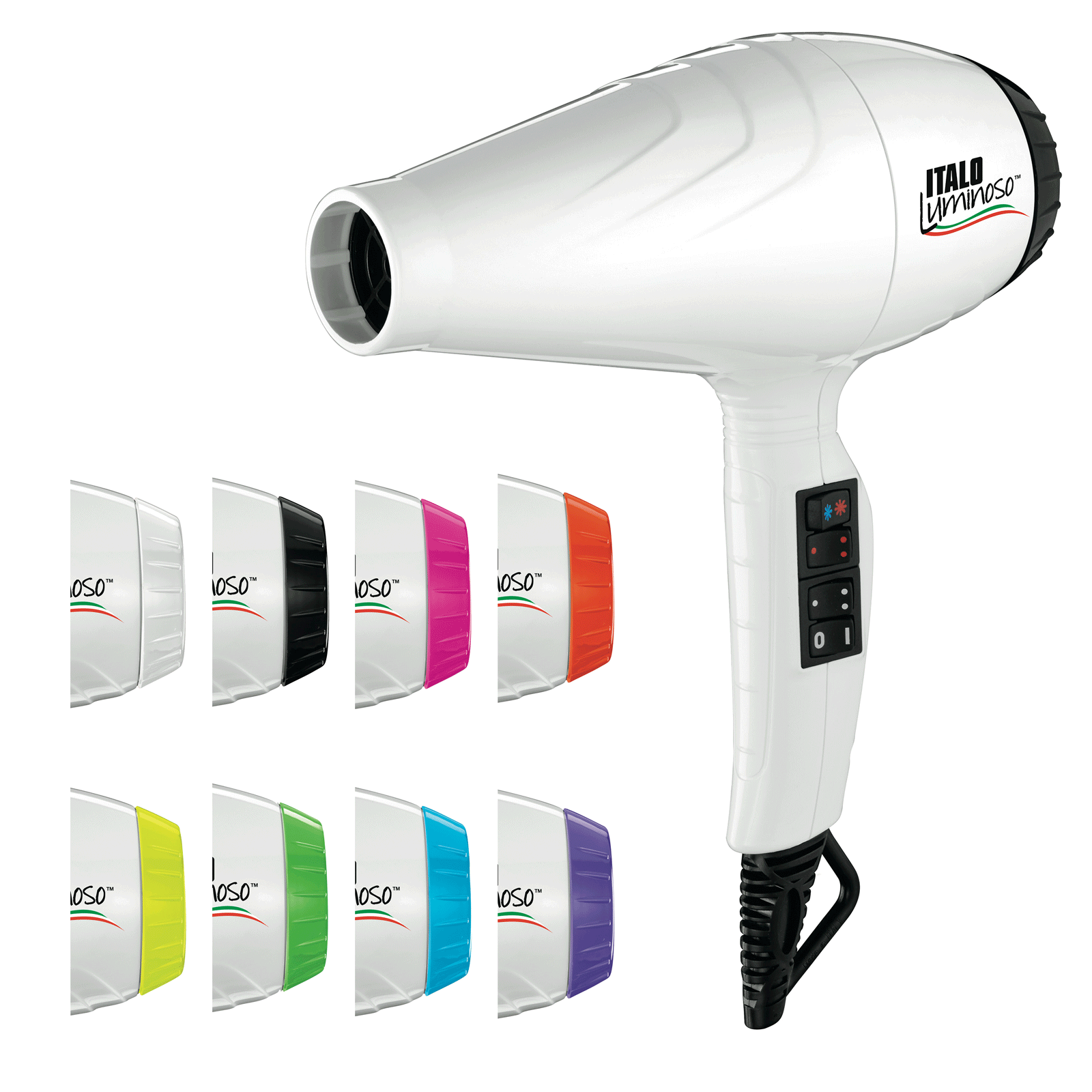 Babyliss Pro Italo Luminoso Dryer - White