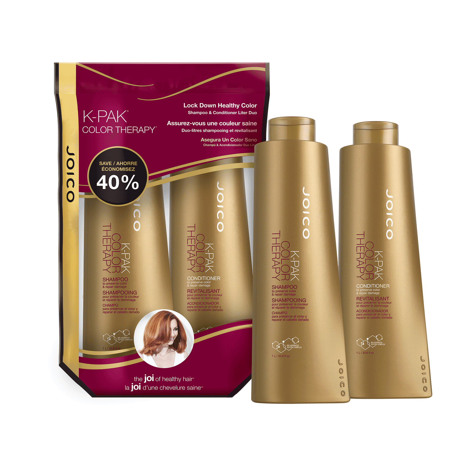 K-Pak Color Therapy Shampoo, Conditioner Liter Duo