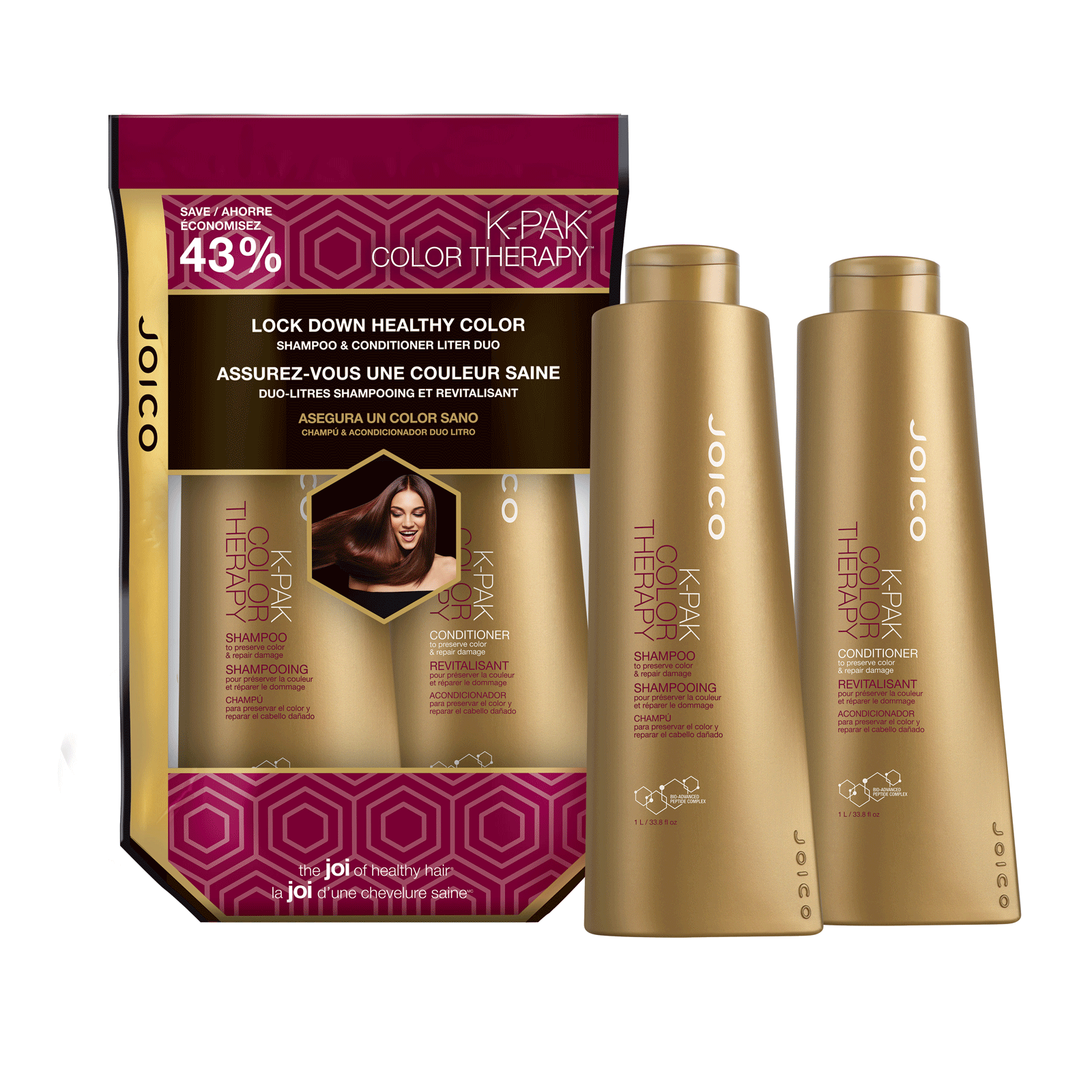 K-PAK Color Therapy Shampoo & Conditioner Liter Duo - Joico ...