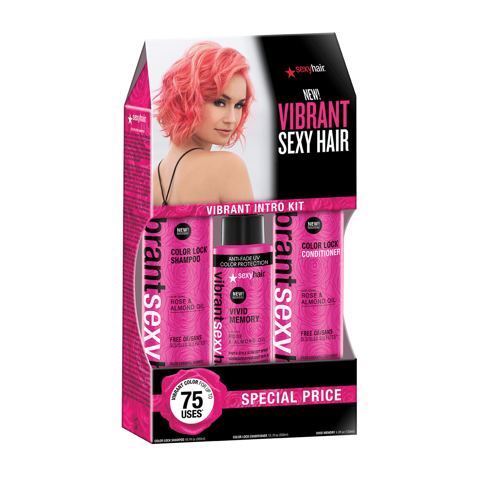 Vibrant Color Lock Shampoo Conditioner Memory Blow Dry Sexy Hair