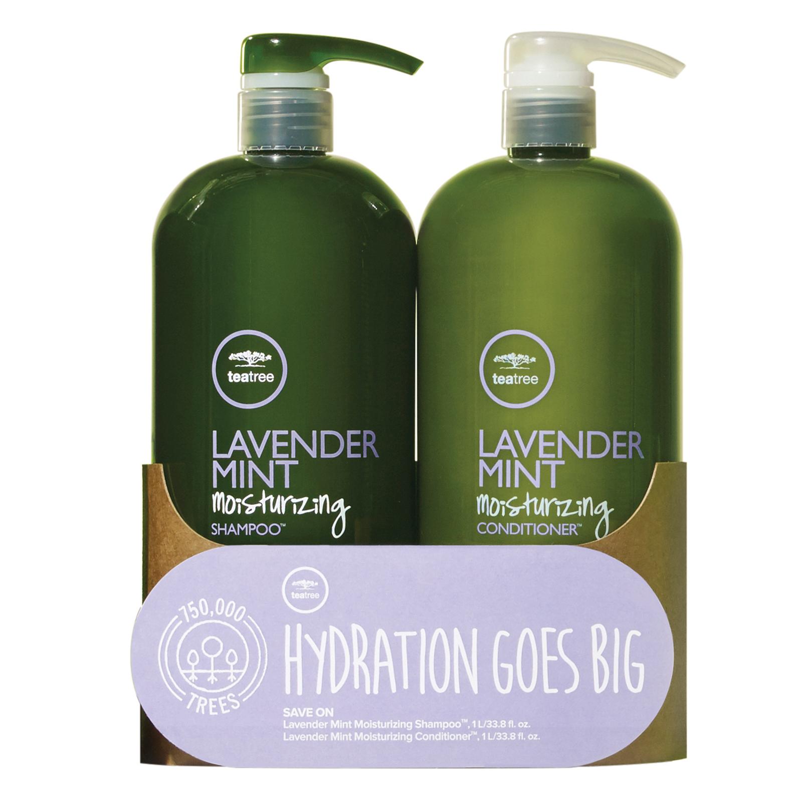 Tea Tree Lavender Mint Shampoo Conditioner Liter Duo