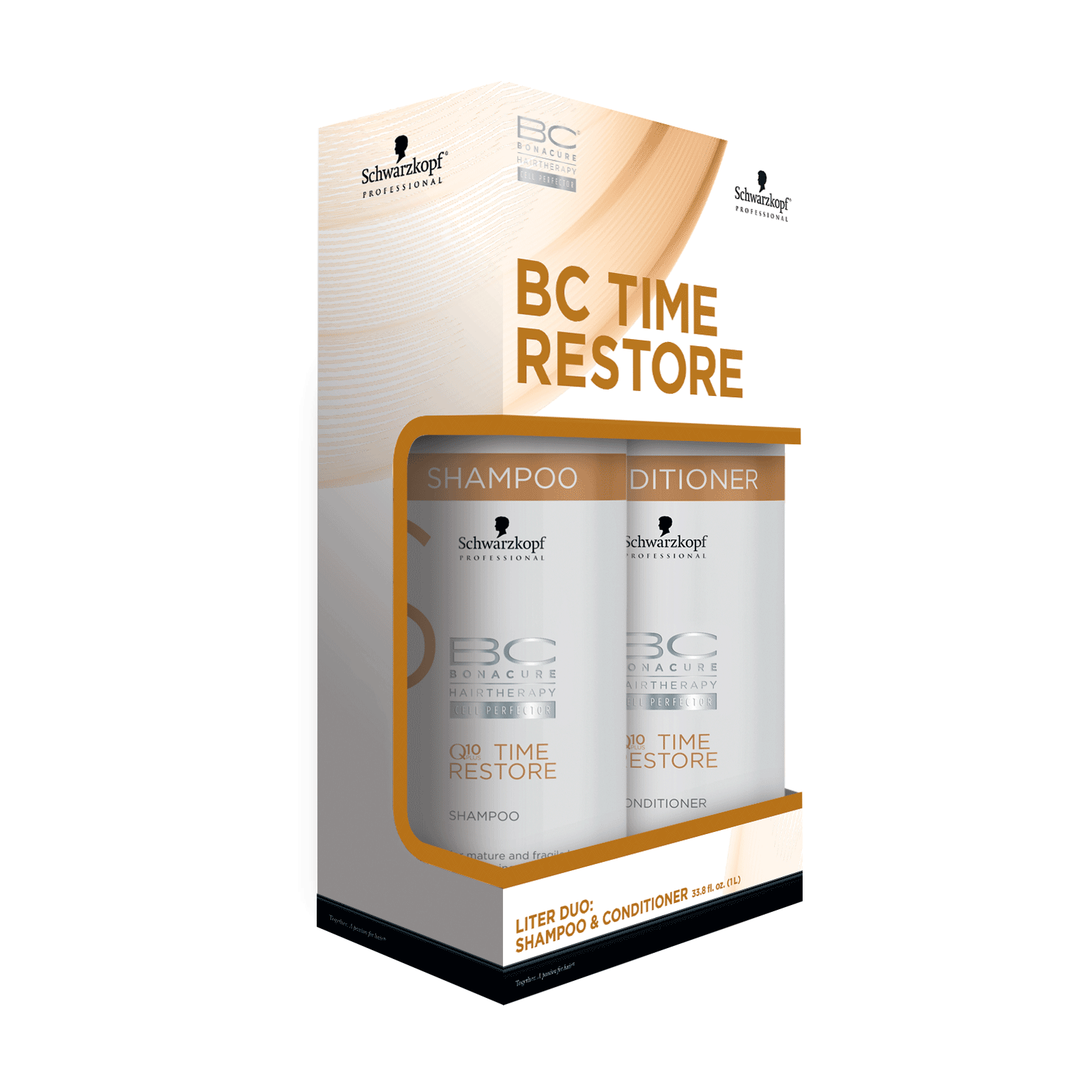 ee5bafc95d Bonacure Q10 Time Restore Shampoo,Conditioner,Pump Liter Duo ...