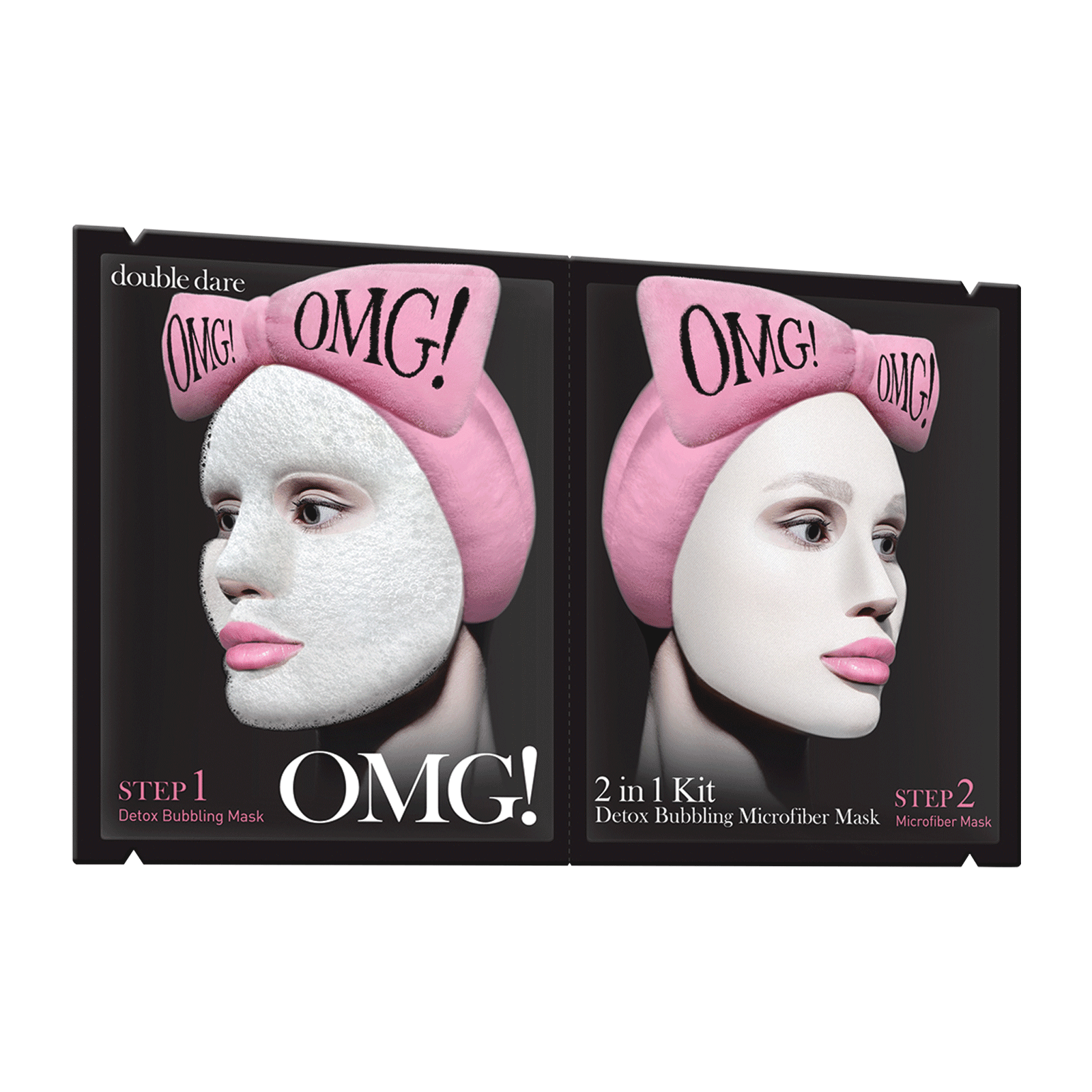 OMG! 2-in-1 Detox Bubbling Microfiber Face Mask