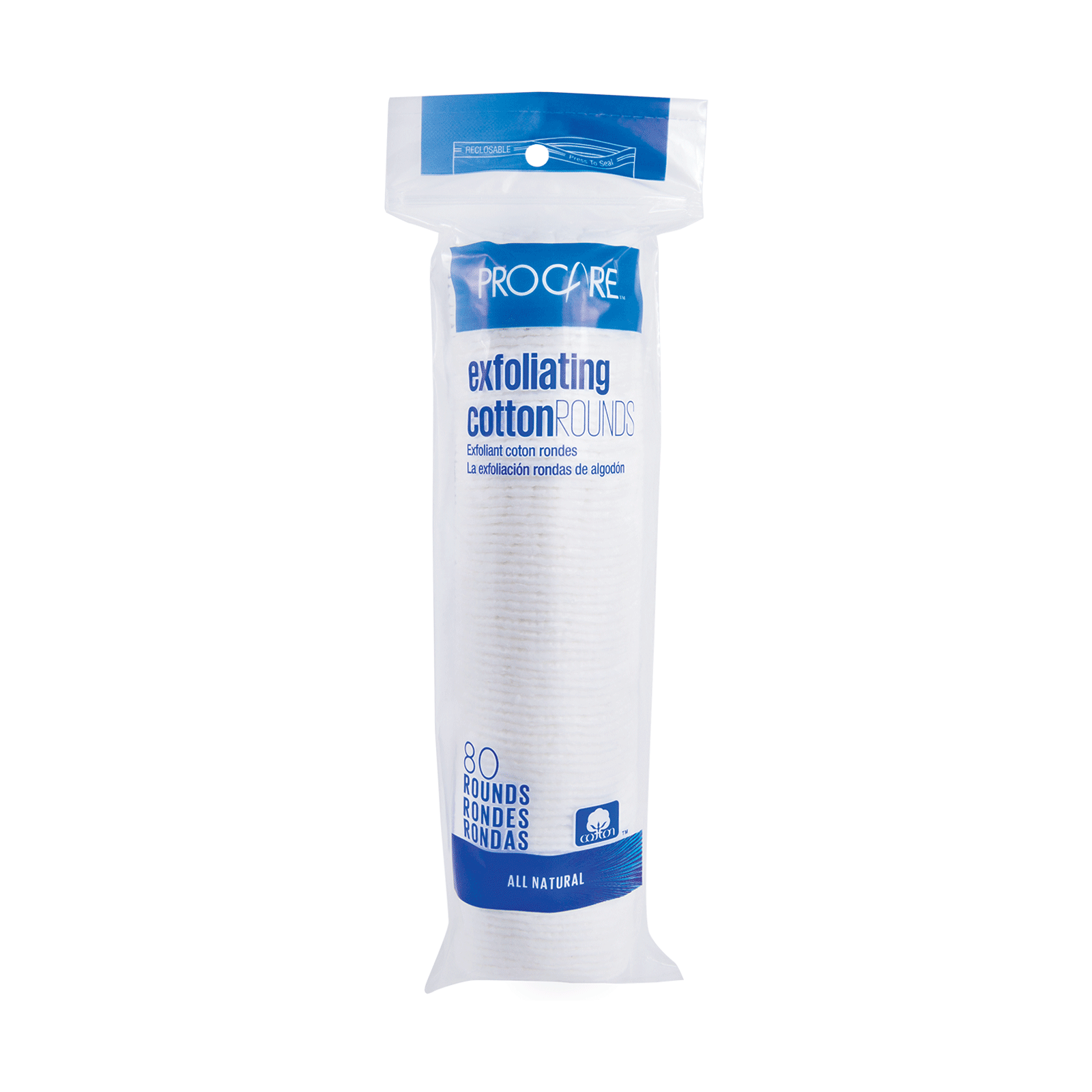 Premium Exfoliating Cotton Round - 80 Count