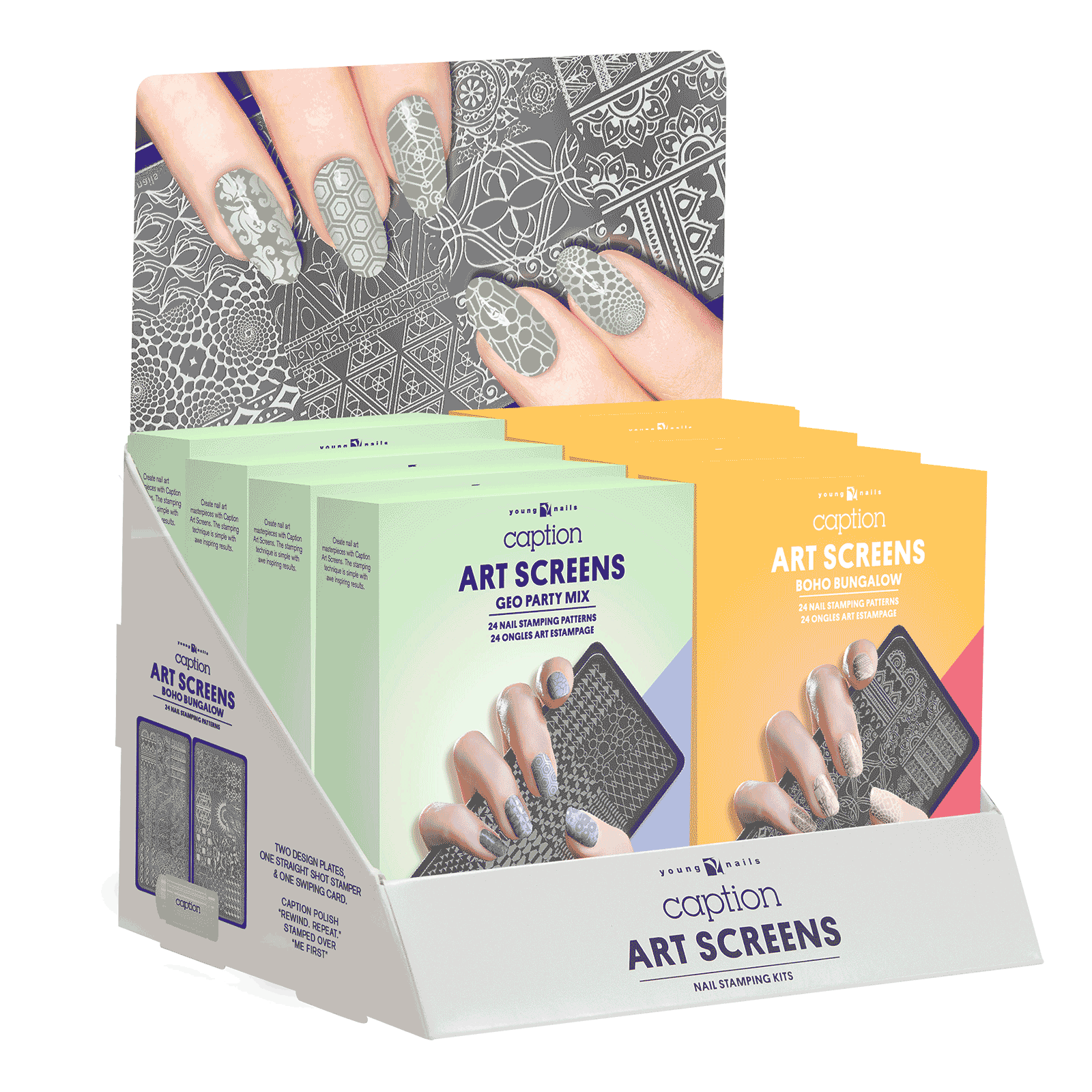 Spring Art Screen - 8 count Display - Young Nails Inc | CosmoProf