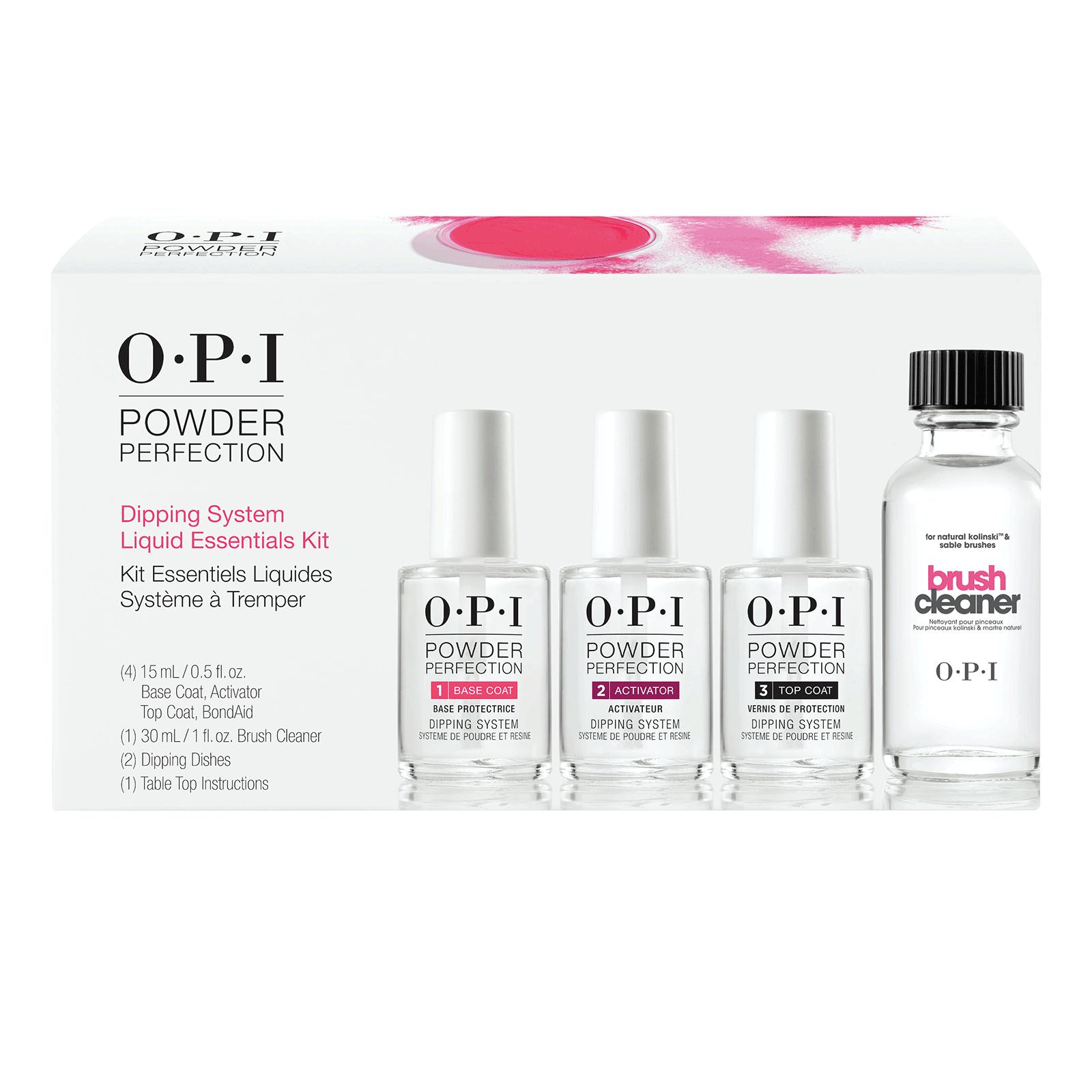 Opi Powder Nail Polish Kit: Powder Perfection Liquid Essentials Kit (California Only