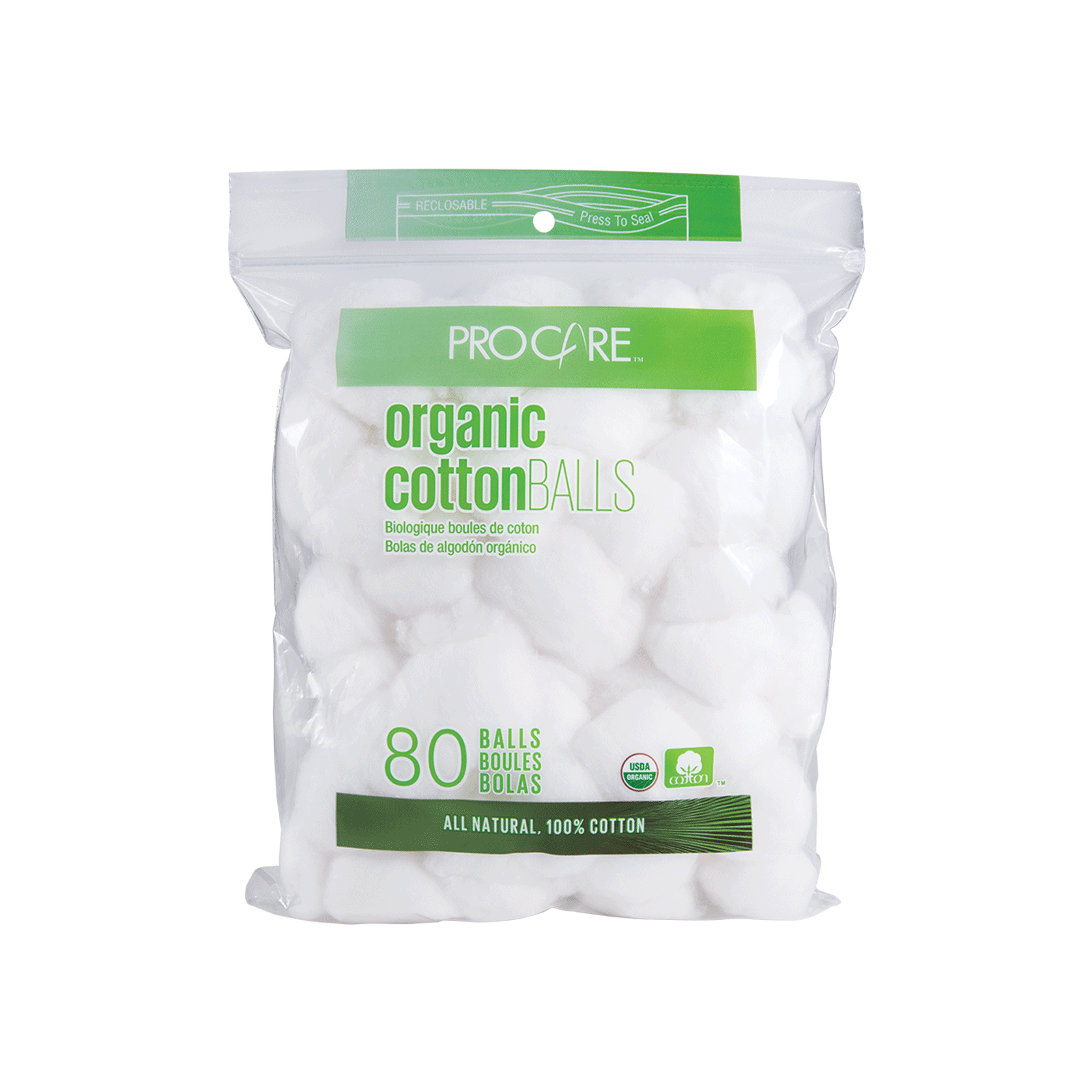 ProCare Organic Cotton Ball - 80 Count
