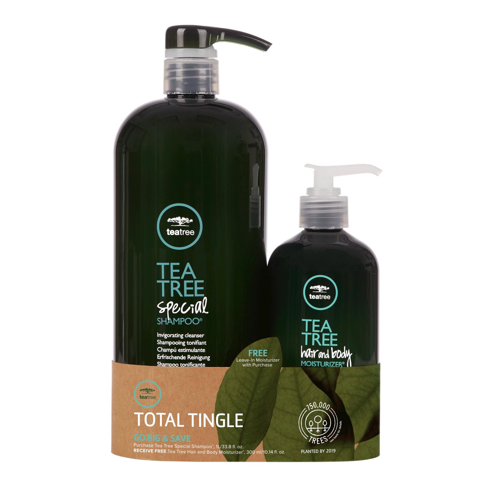 Tea Tree Special Shampoo With Hair Body Moisturizer Duo