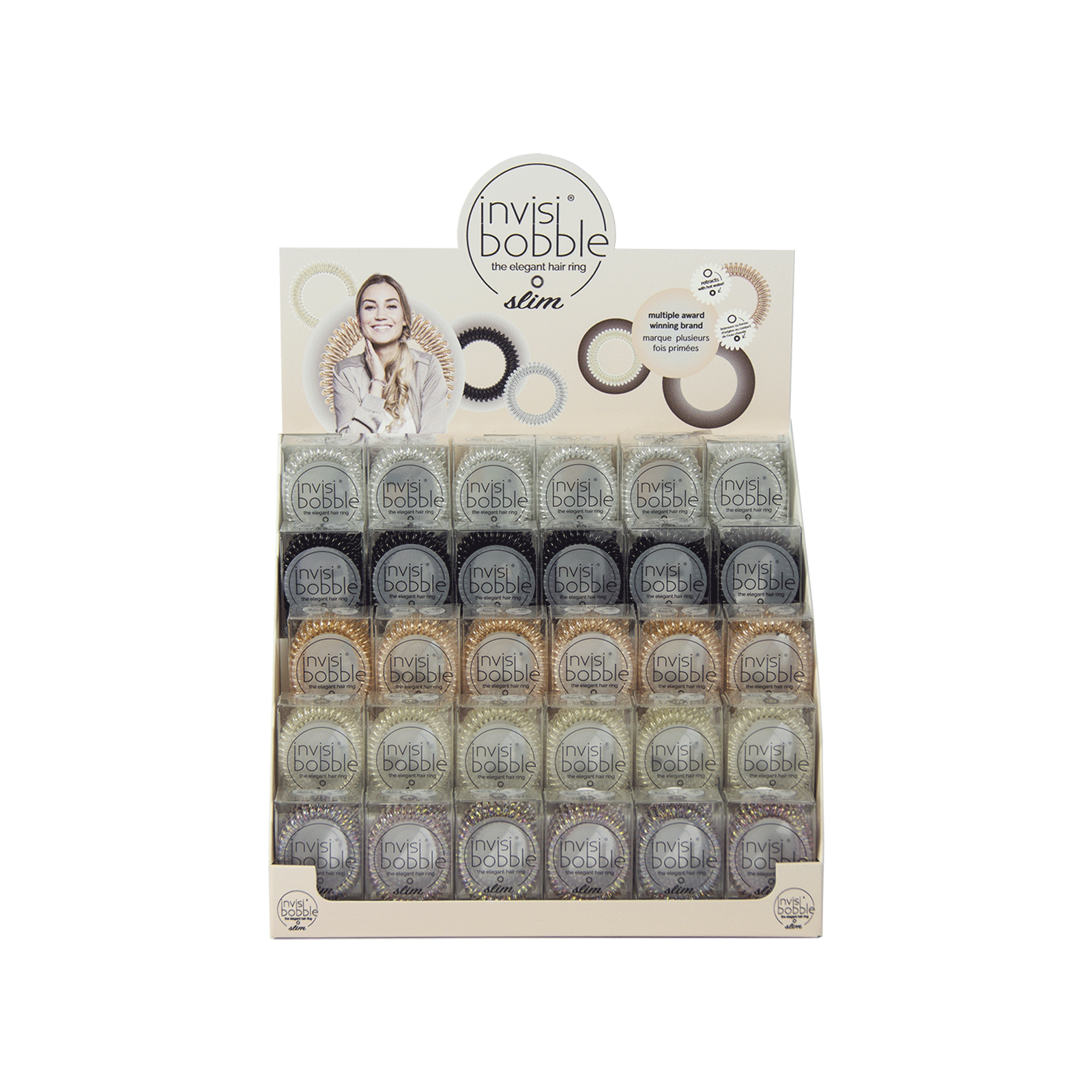 Invisibobble SLIM - 30 Count Display