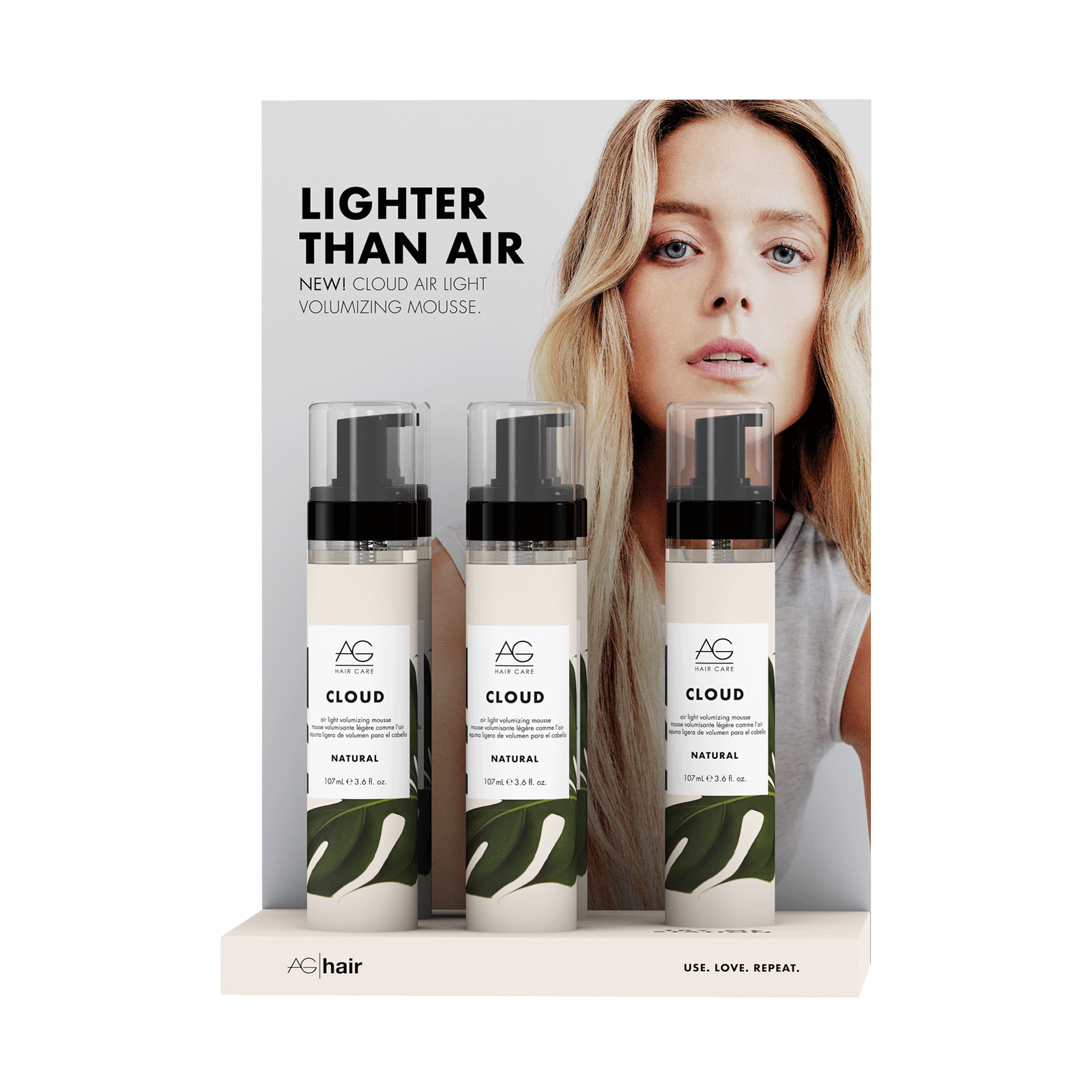 Cloud Volumizing Mousse 5 Count Display Ag Hair Cosmoprof
