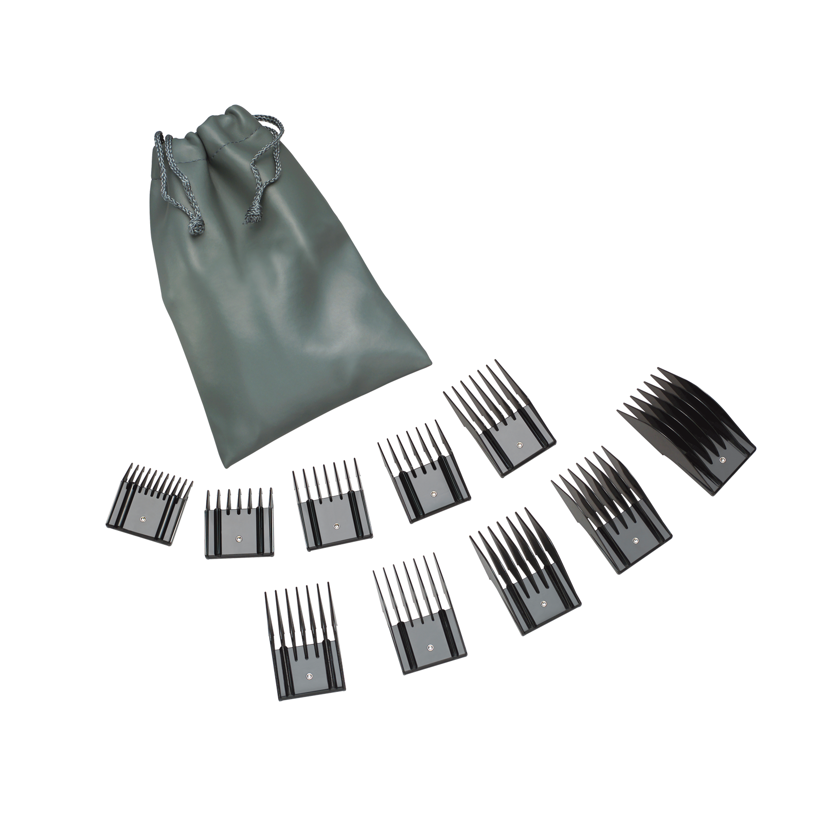Universal Combs - 10 Piece Set with Storage Pouch