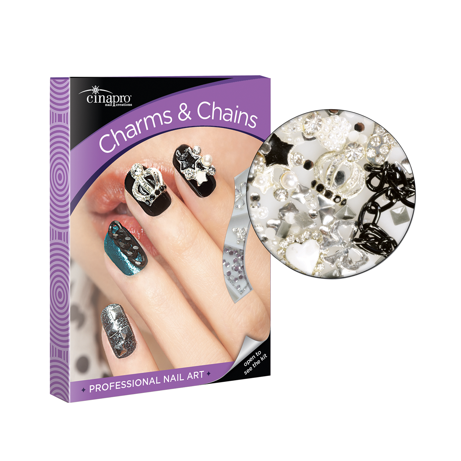 Cinapro professional nail art kit charms chains cuccio cina cinapro professional nail art kit charms chains prinsesfo Gallery