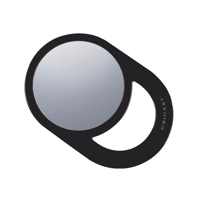 Round Black Styling Mirror 6 Inch