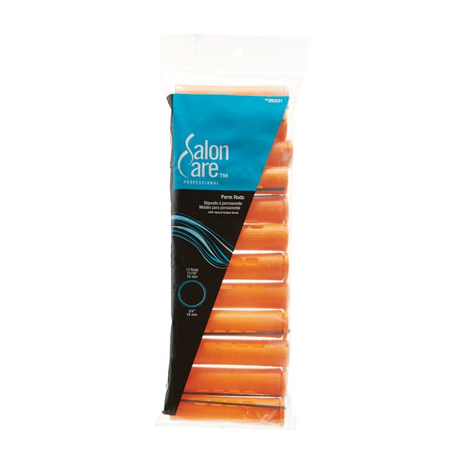 Salon Care Curved Perm Rod Large Tangerine - 12 Pack