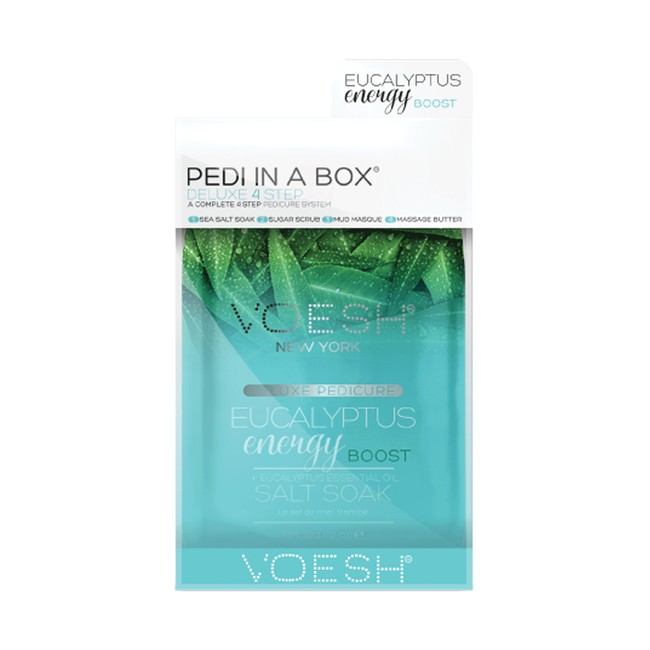 Deluxe 4-Step Pedi In A Box Eucalyptus Energy Boost