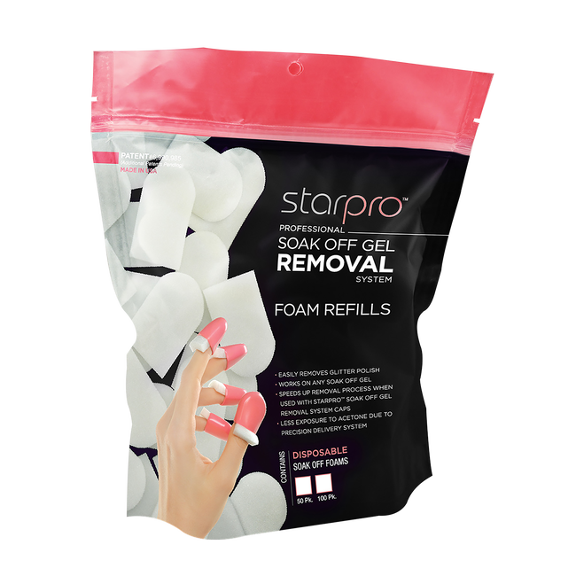 Star Nail Soak Off Gel Refill Removal Pads - 50 count