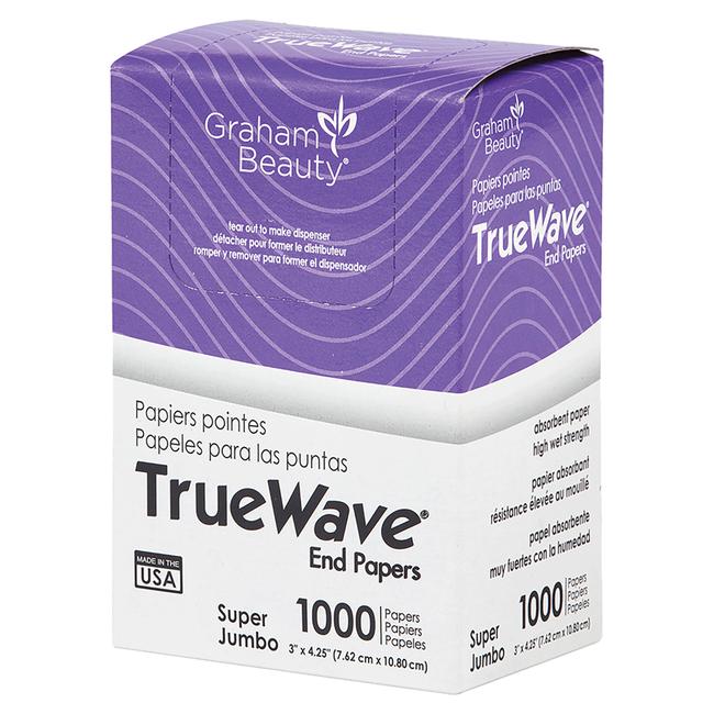 TrueWave Super Jumbo End Wraps 3 Inch x 4 1/4 Inch
