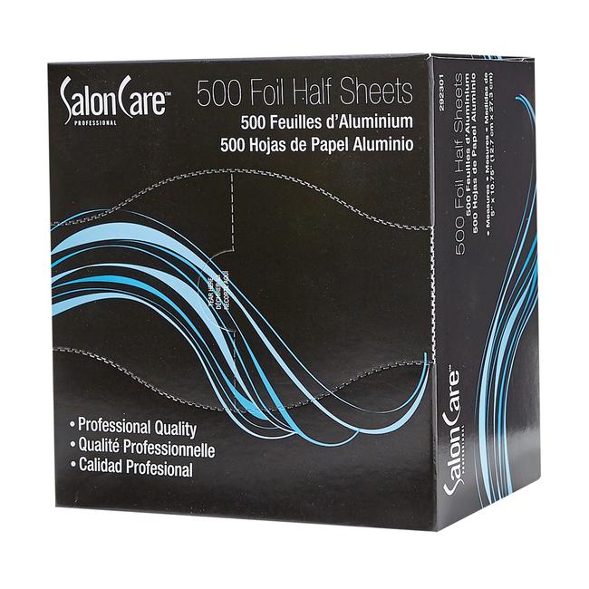 Salon Care Half Cut Foil Sheets 5 x 10.75 - 500 Count