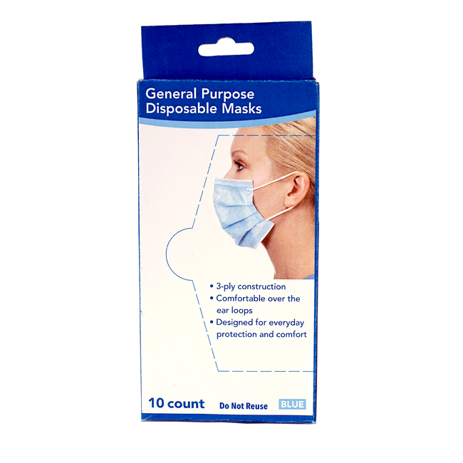 3-Ply Disposable Face Mask 10-Count