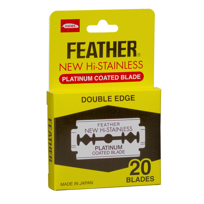 Feather Double Edge Razor Blades - 20 count