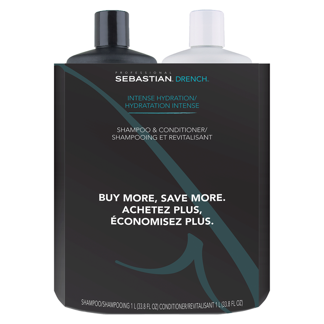 Drench Moisturizing Shampoo, Conditioner Liter Duo