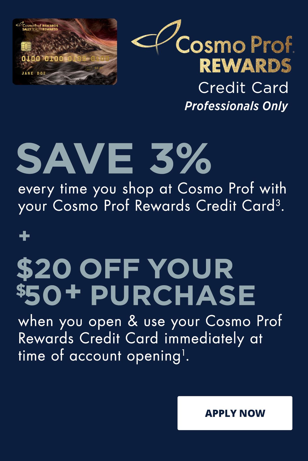Cosmo Prof Rewards Credit Card