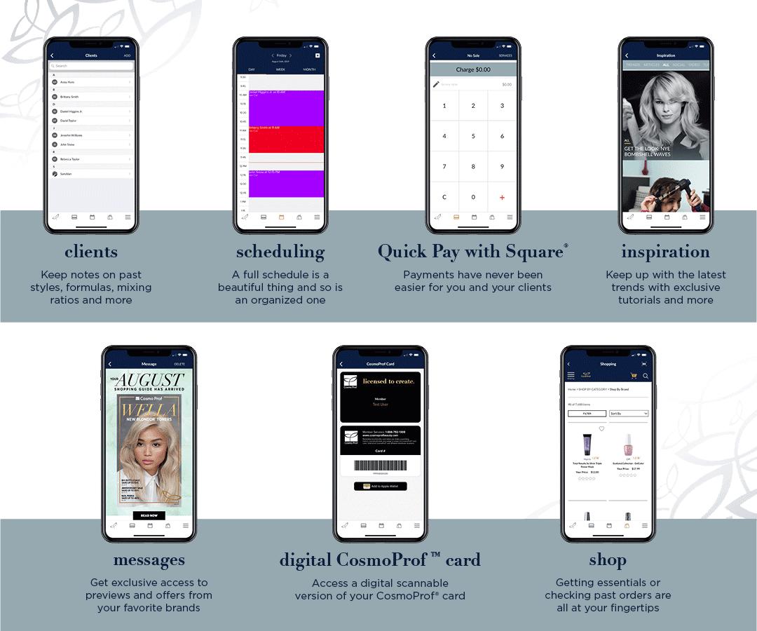 Cosmo Prof App Features