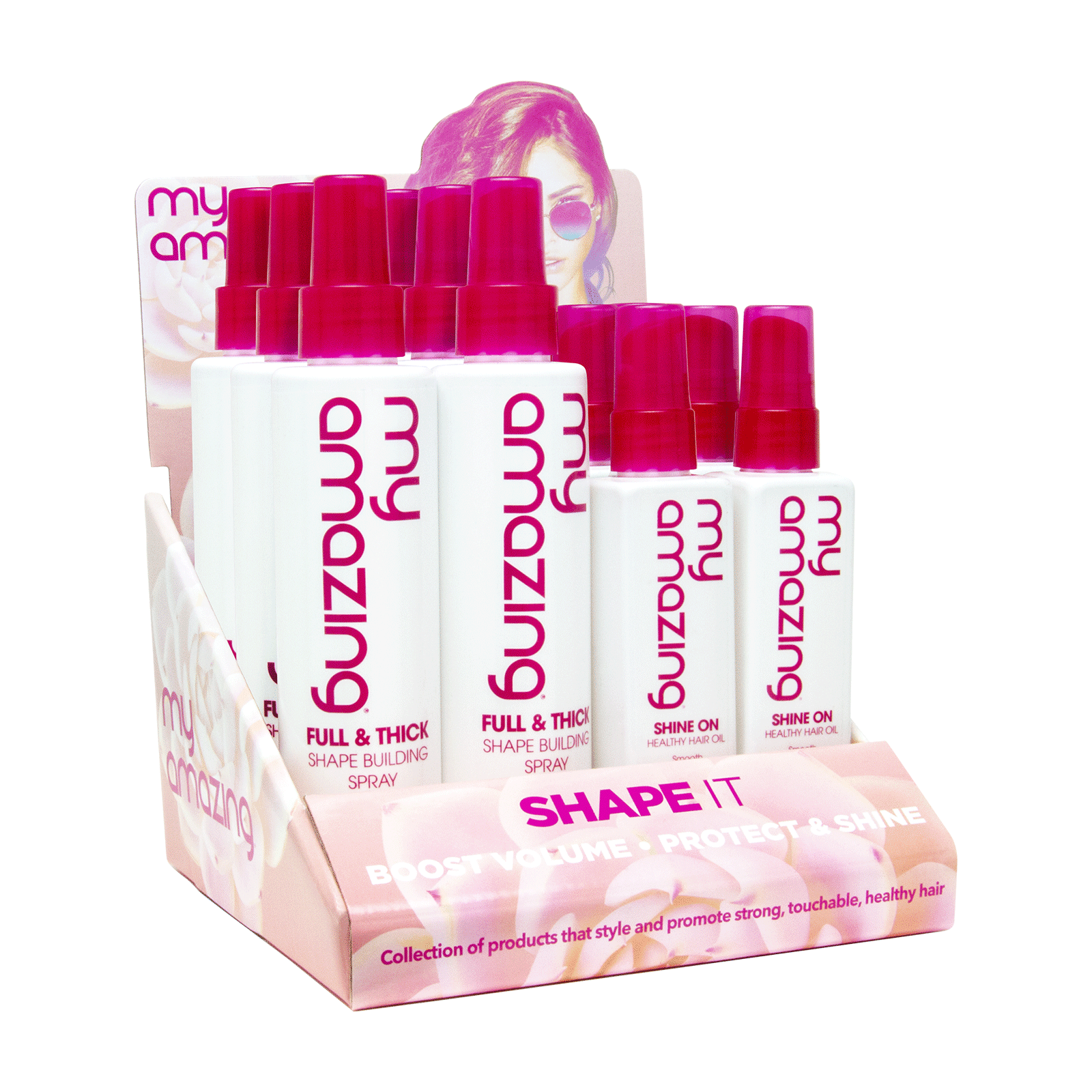 Shape Building Spray,Shine Healthy Hair Oil-12 Piece Display