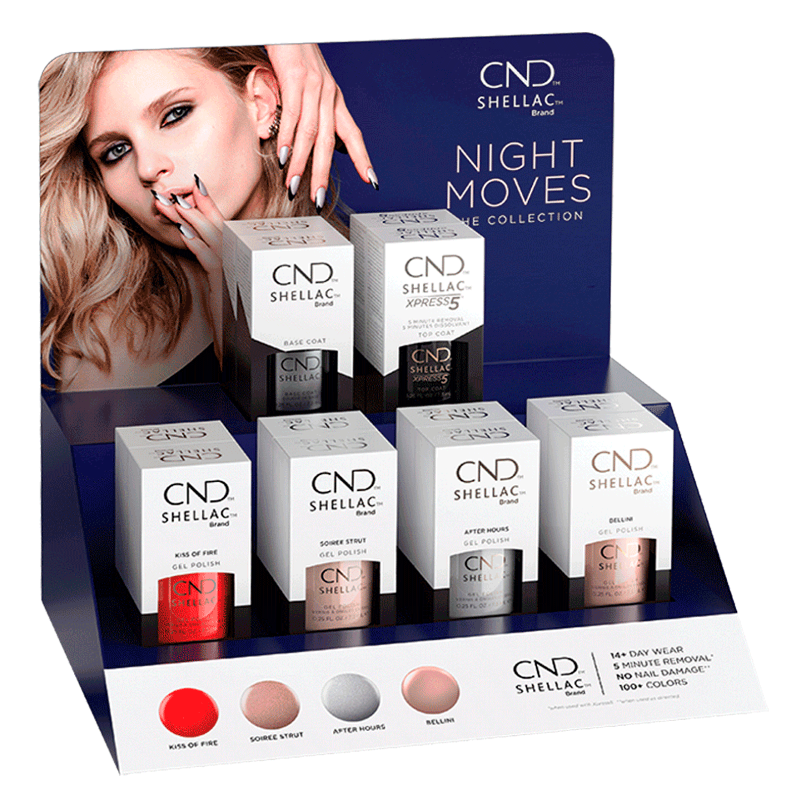 Shellac Night Moves - 12 Count Display