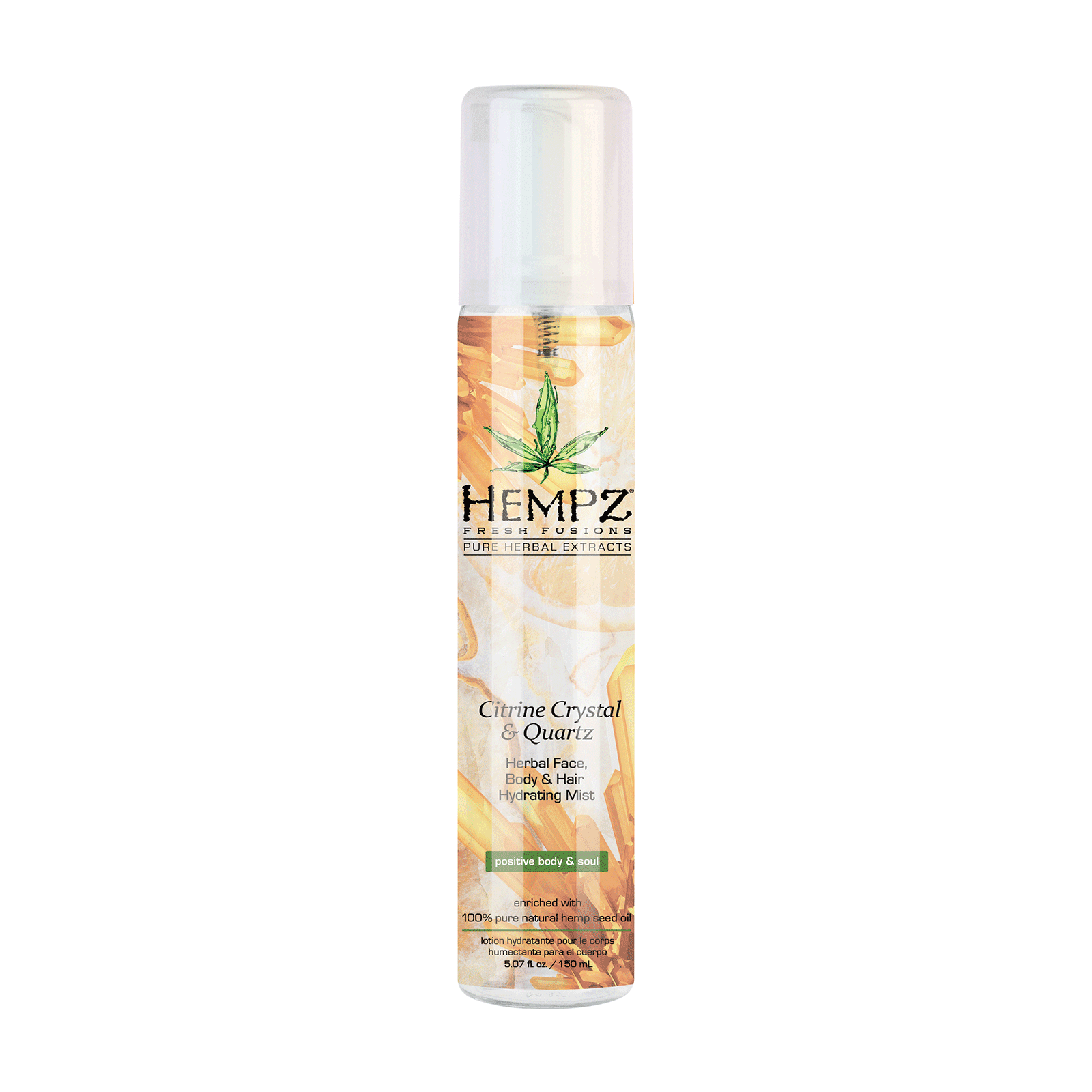 Citrine Crystal & Quartz Herbal, Body & Hair Hydrating Mist