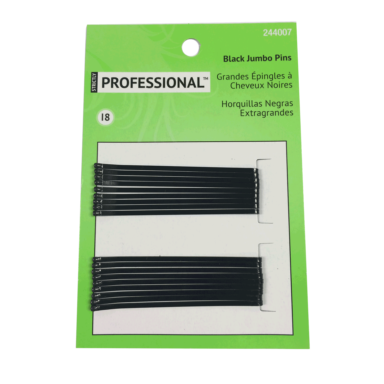 Black Jumbo Roller Pins Strictly Professional Cosmoprof
