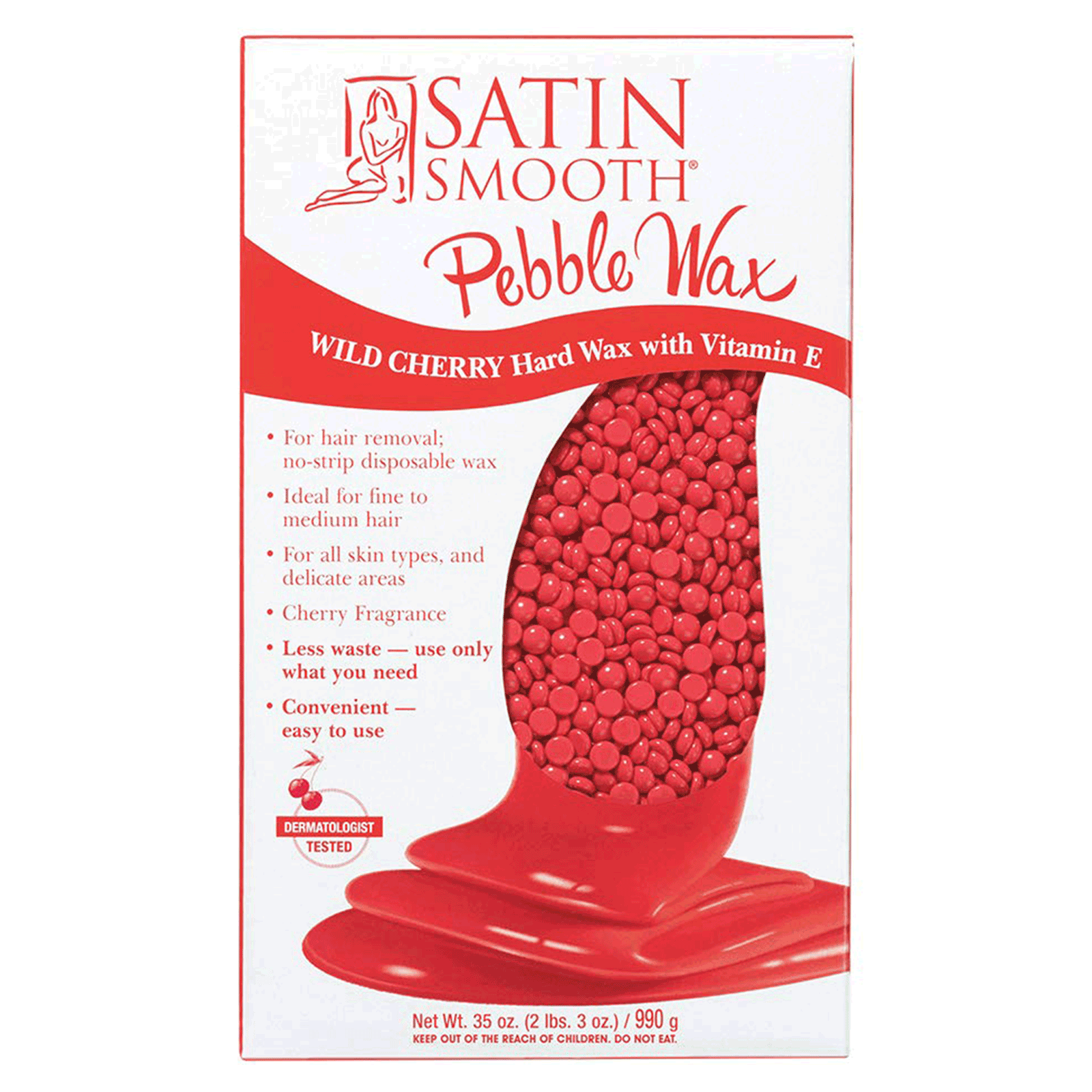 Pebble Hard Wax - Wild Cherry with Vitamin E