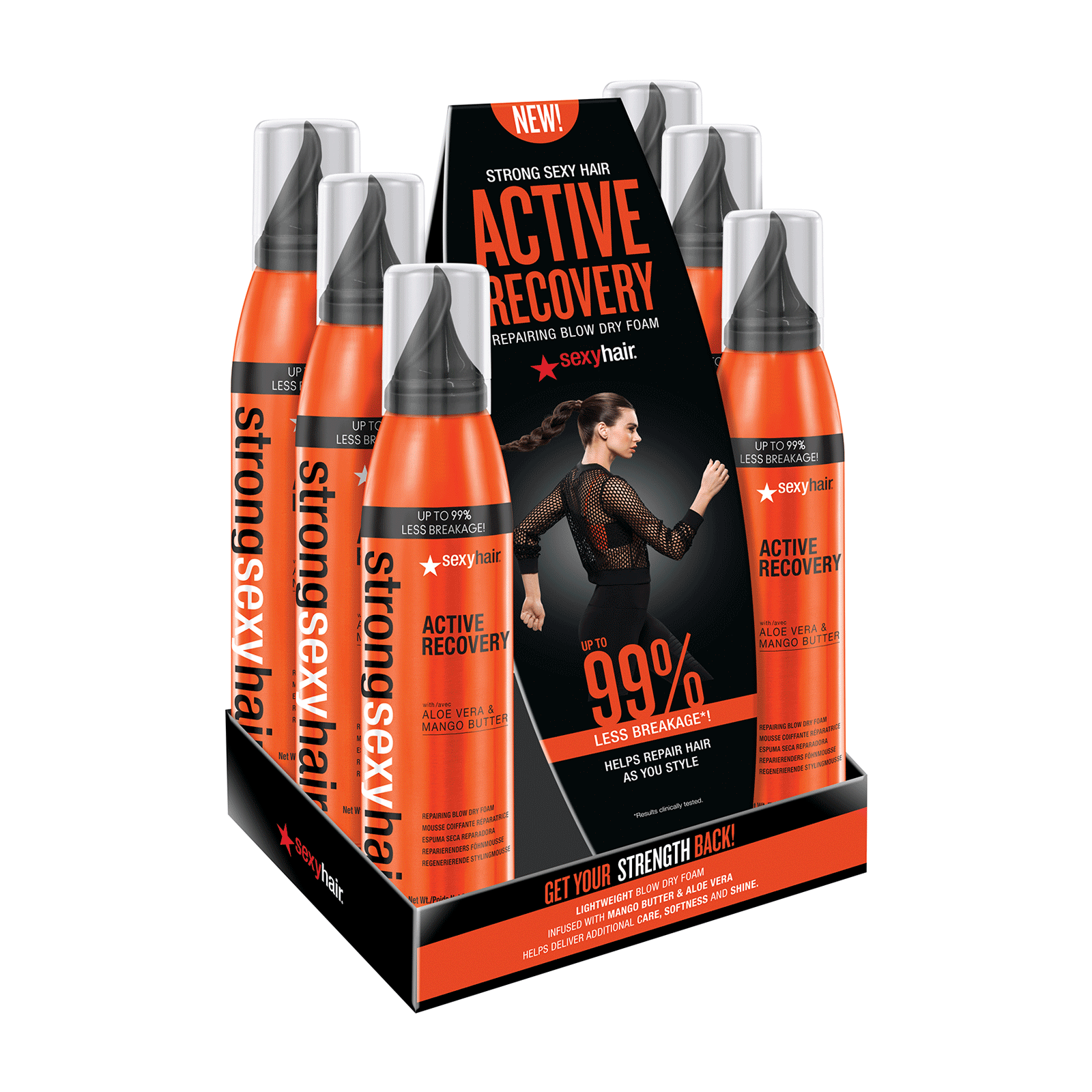 Active Recovery Repair Blow Dry Foam - 6 Count Display
