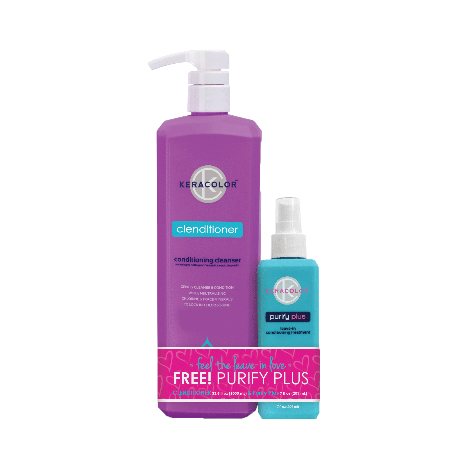 Clenditioner Liter, Purify Plus Leave-In Spray