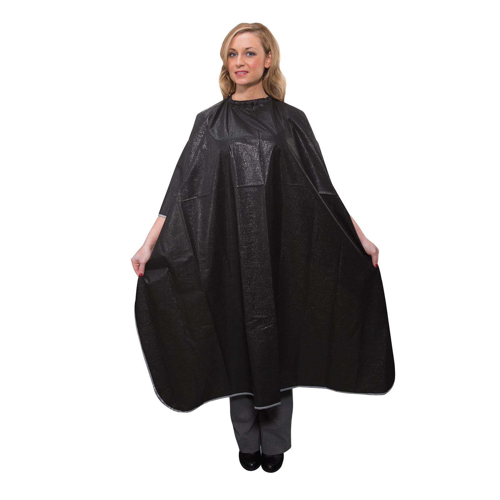 Salon Care PVC Black Shampoo Cape