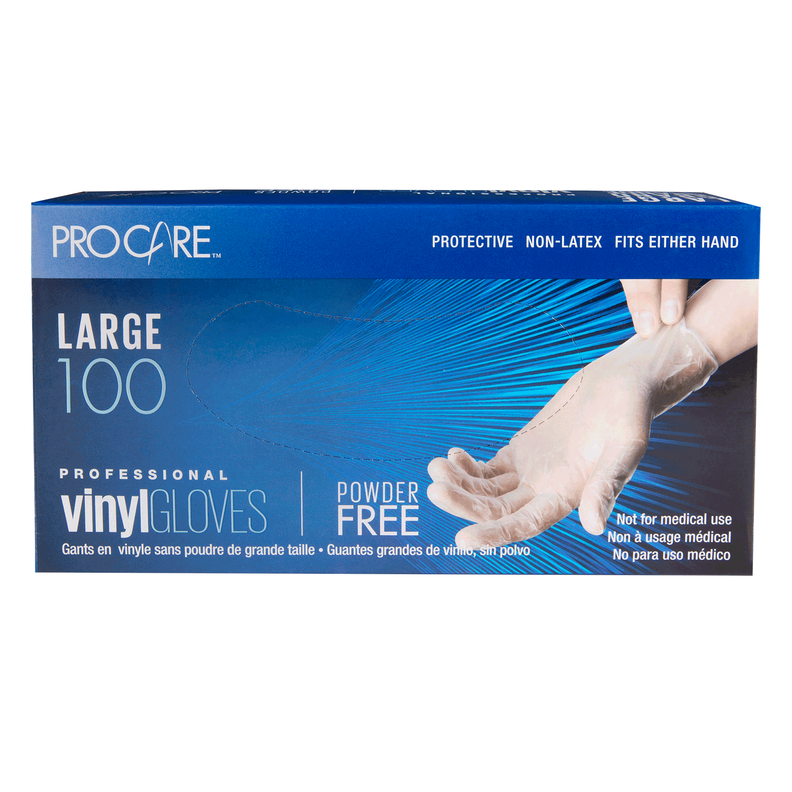 Pro Care Vinyl Powder-Free  Gloves - Large