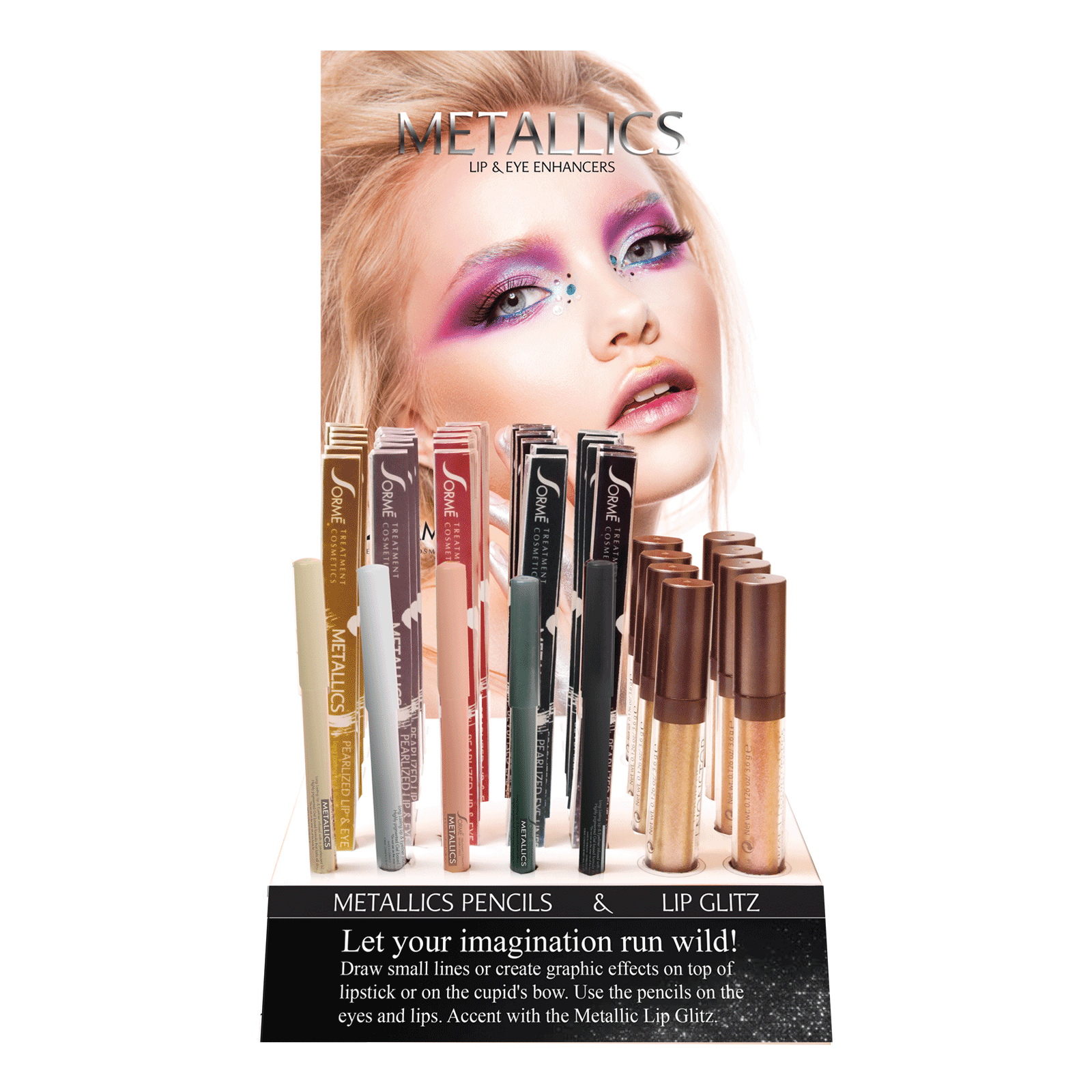 Pearlized Lip & EyeLiner, Lip Shimmer - 38 Count Display