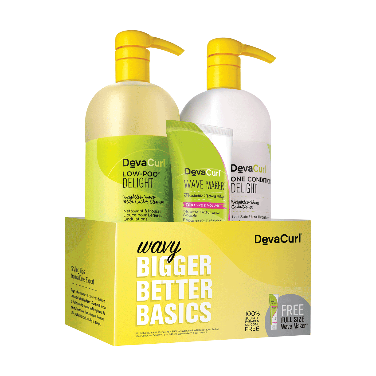 Low-Poo Delight, One Condition, Touchable Texture Whip Trio