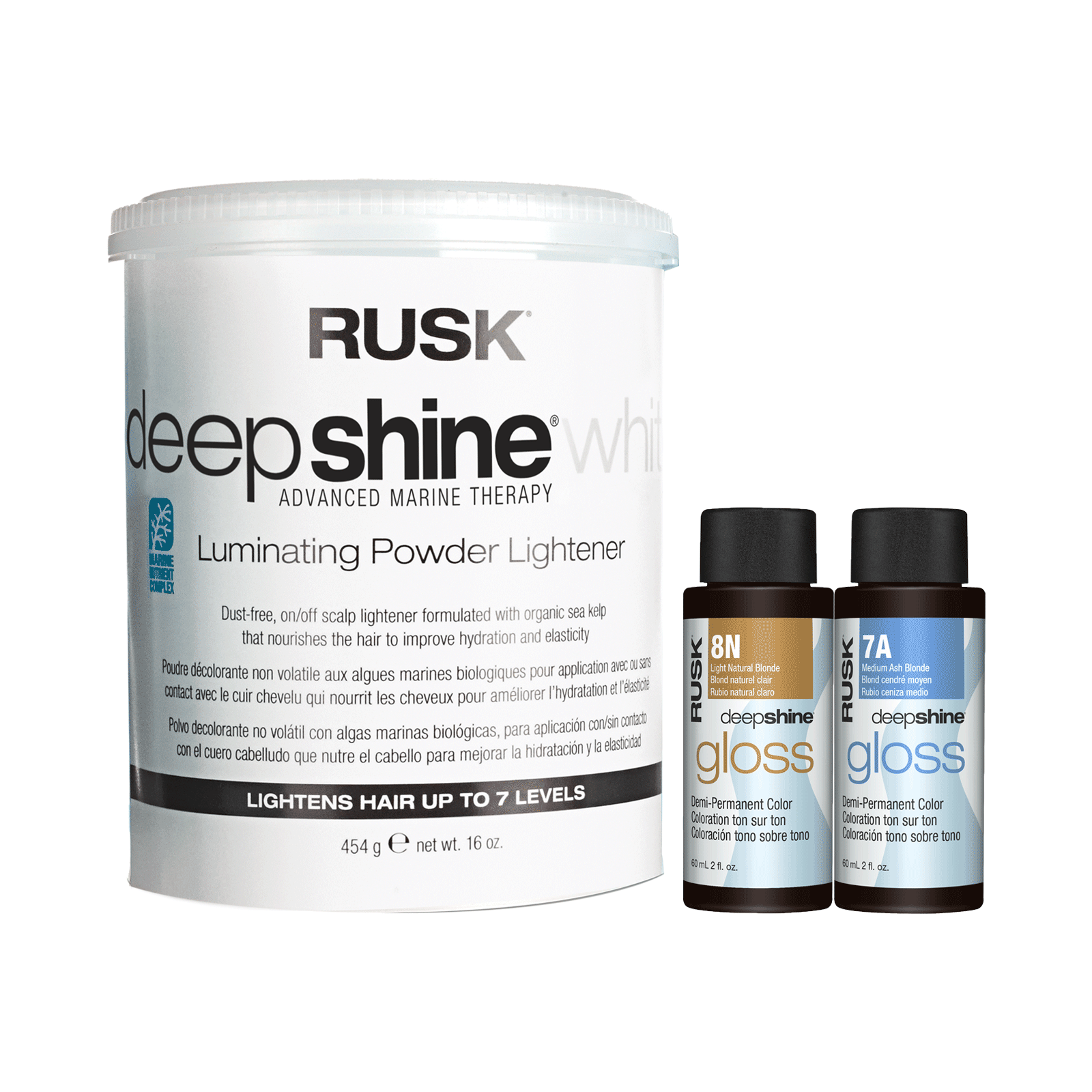 Deepshine Luminating Lightener Gloss 8n 7a Color Shades Rusk Cosmoprof