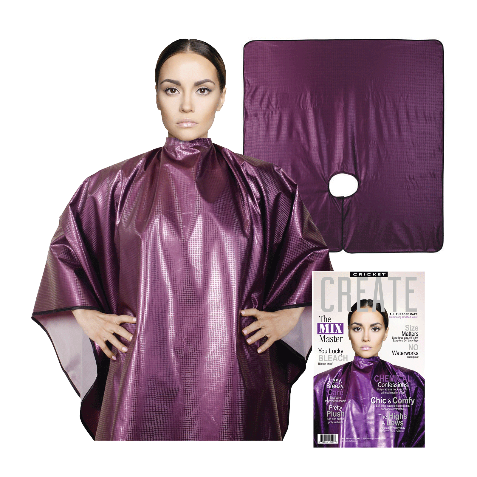 Shimmering All Purpose Cape - Violet