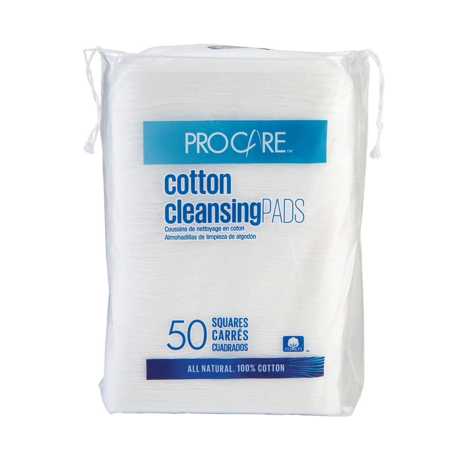 Facial Cotton Cleansing Pad - 50 Count