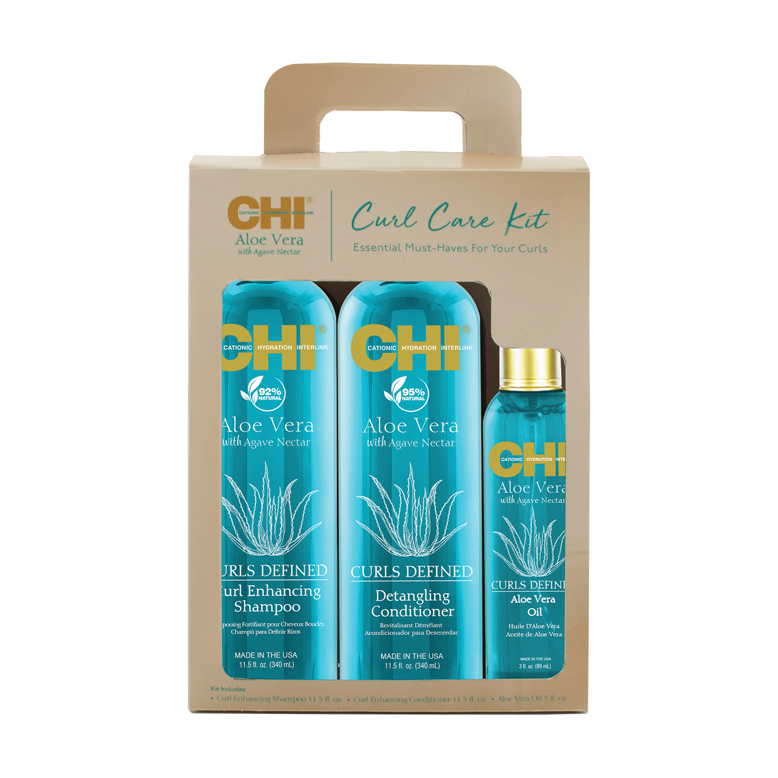 CHI Aloe Vera Curl Care Kit