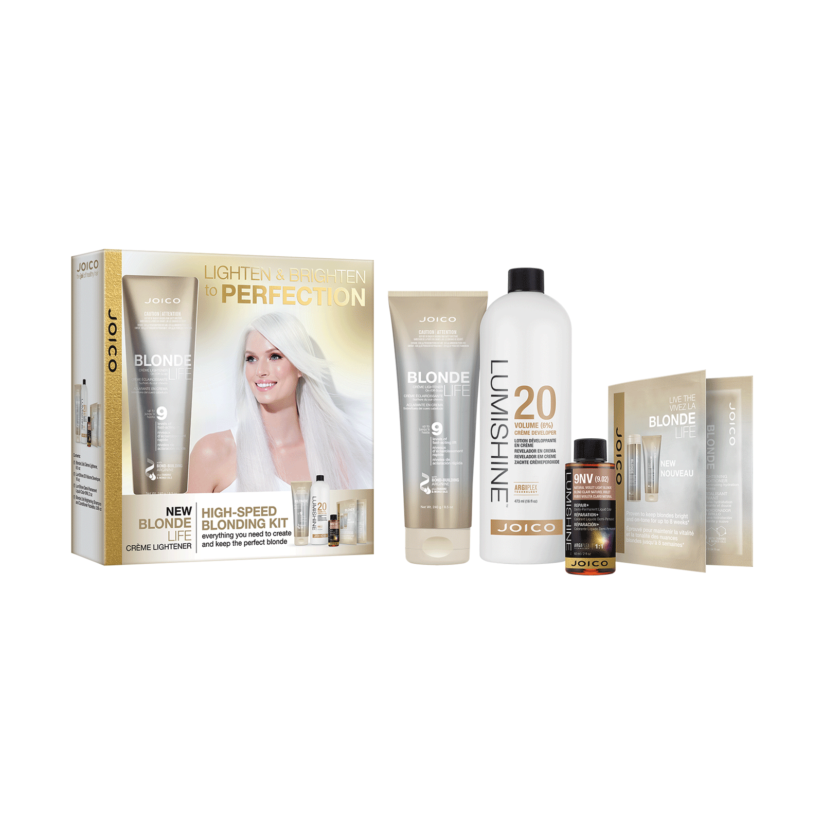 Blonde Life Creme Lightener, Lumishine Creme Developer