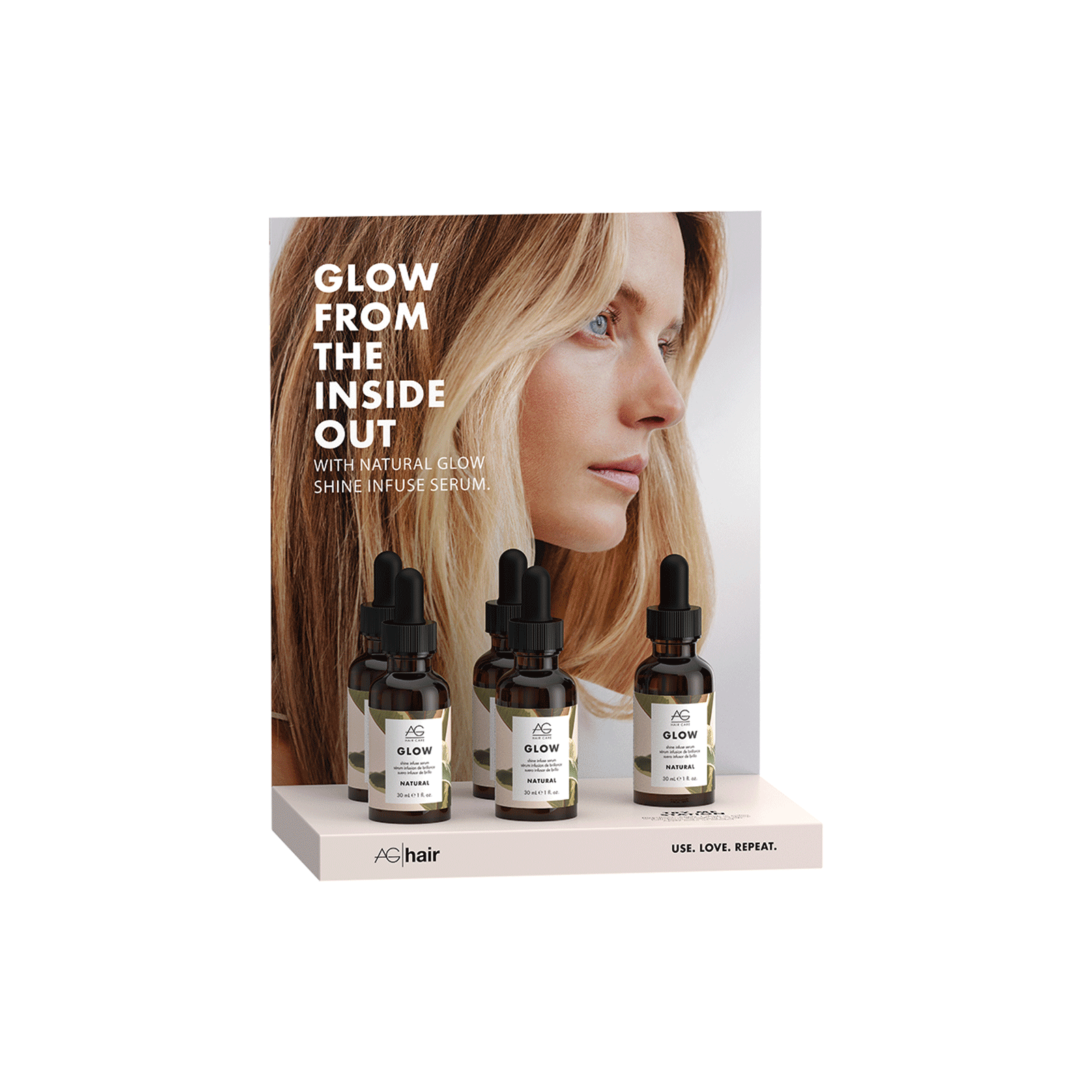 Glow Shine Infuse Serum 5 Count Display
