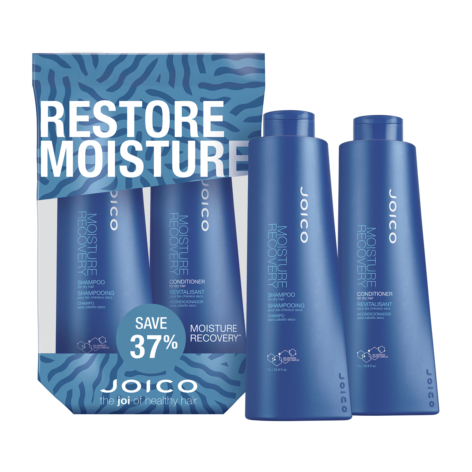 Moisture Recovery Shampoo, Conditioner Liter Duo - Joico