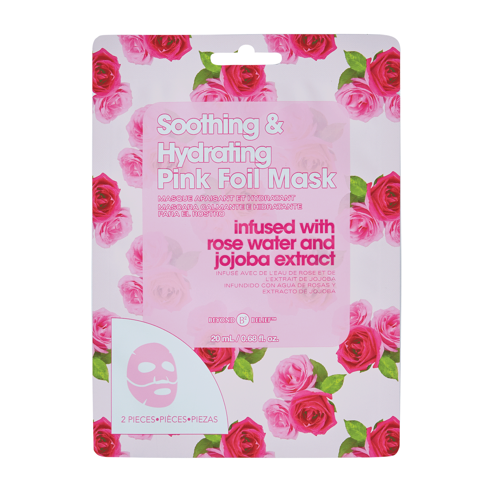 Soothing and Hydrating Pink Foil Mask