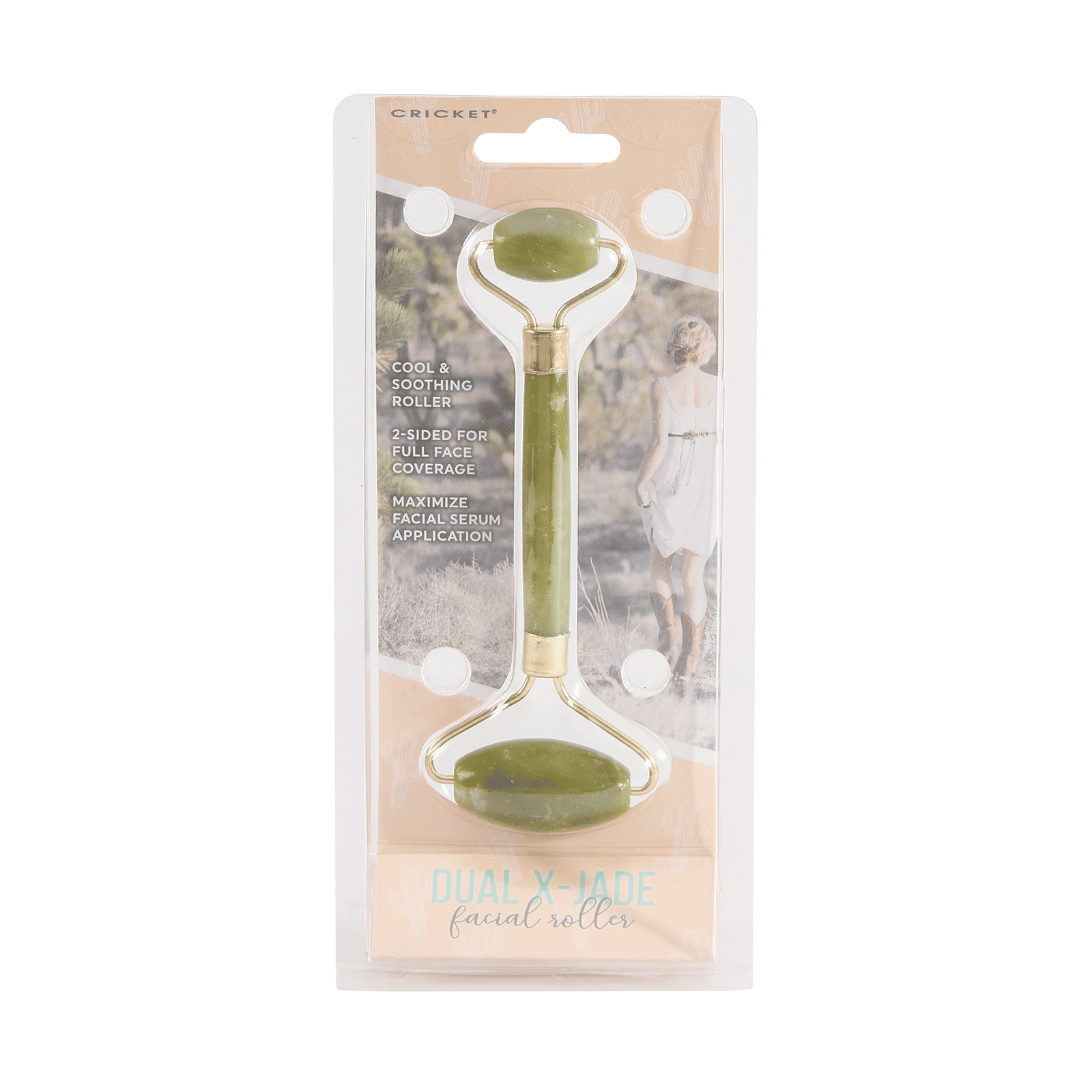 Desert Bloom Dual X-Jade Facial Roller